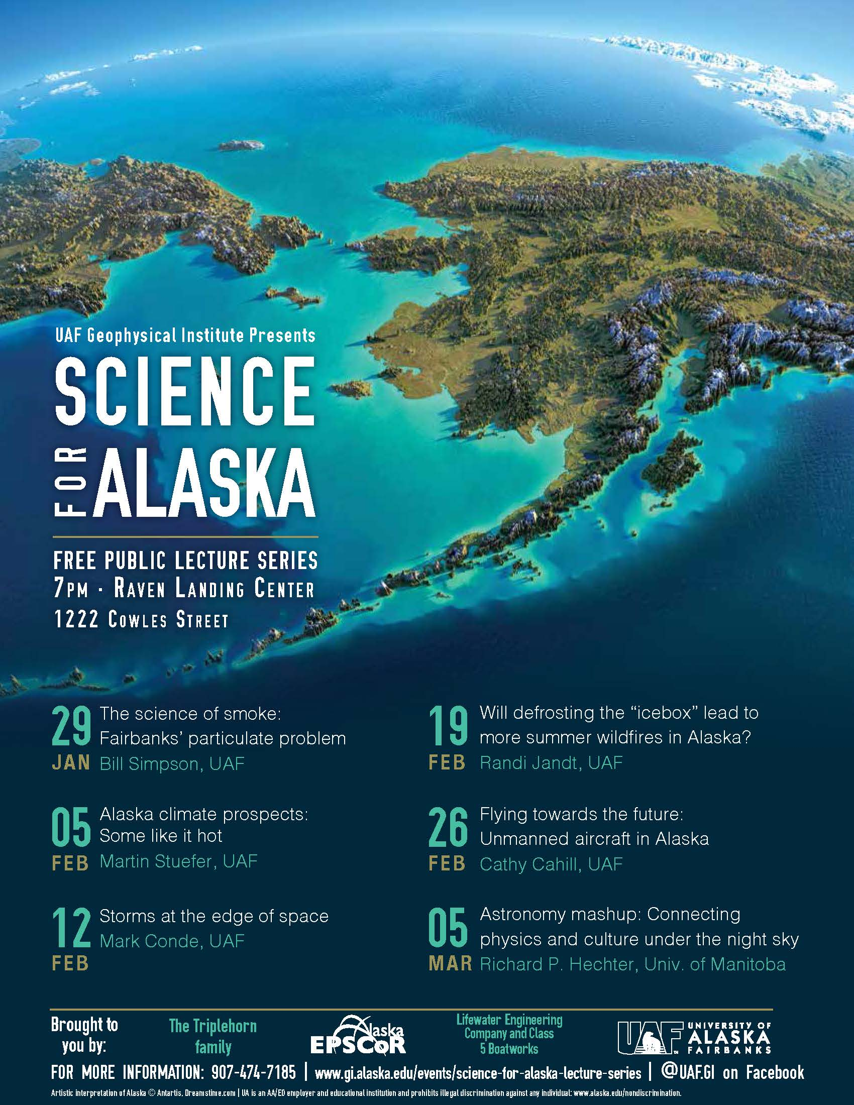 2019 Science for Alaska Lecture Schedule