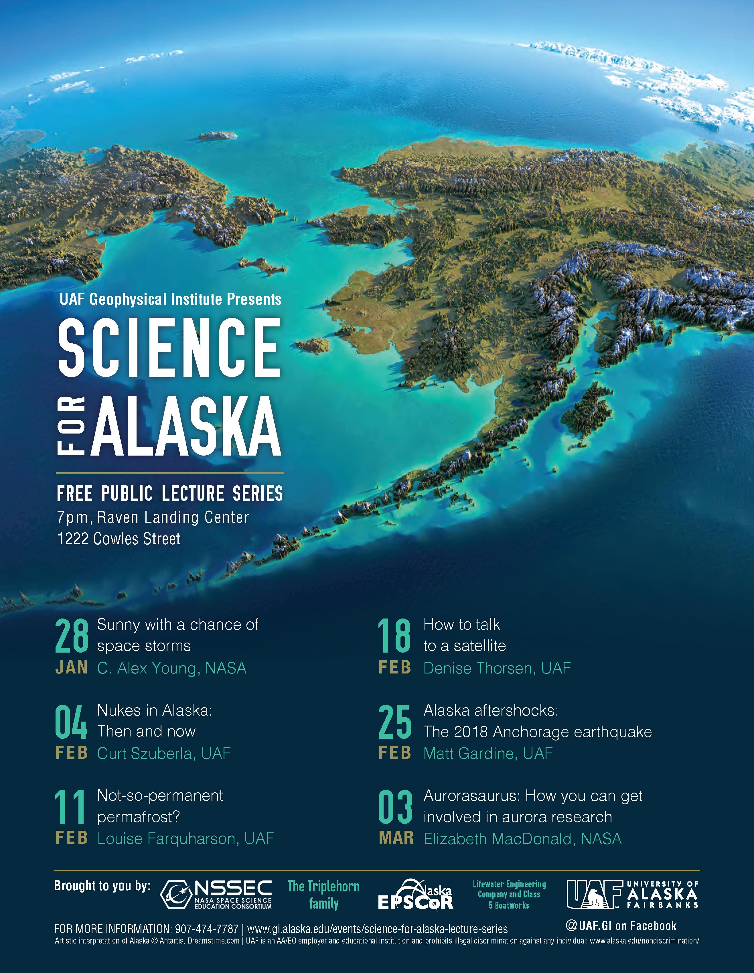 2020 Science for Alaska Lecture Schedule
