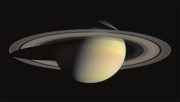 Saturn image courtesy NASA/JPL/Space Science Institute