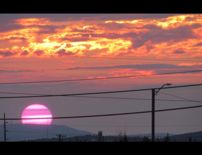 Sunrise over South Fairbanks came at 3:10 a.m. on a recent June morning. Photo by Ned Rozell.