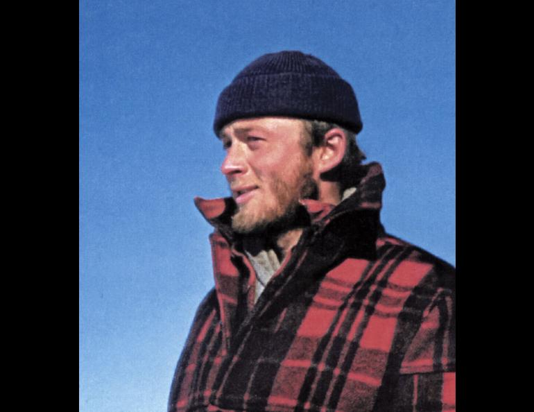 Carl Benson on one of his Greenland traverses in 1953.