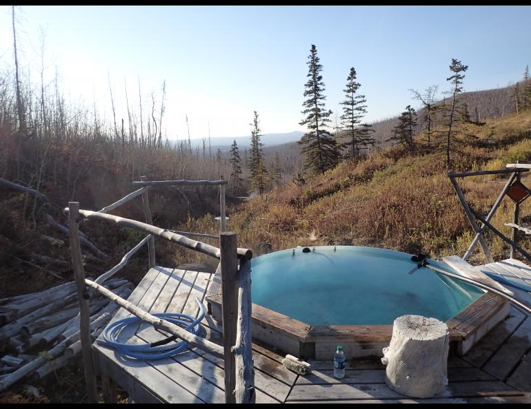 Tolovana Hot Springs. Photo by Ned Rozell.