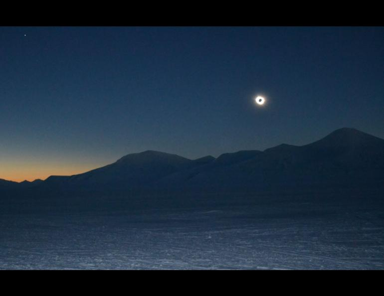 A total eclipse of the sun, seen from Svalbard. Mark Johnson