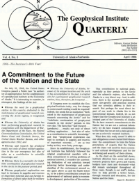 A Commitment to the Future of the Nation and the State