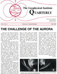 The Challenge of the Aurora article