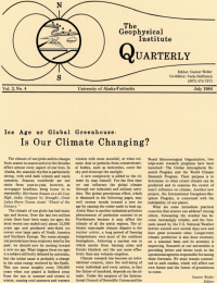 Is Our Climate Changing article