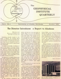 The Director Introduces: a Report to Alaskans