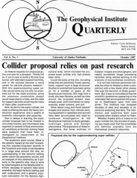 Collider proposal relies on past research article