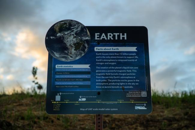 Planet Walk sign