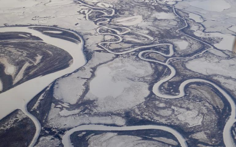 A snow-covered landscape is one of the biggest changes Alaska undergoes. Photo by Ned Rozell.