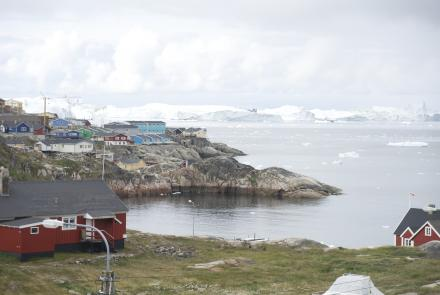 "Ilulissat, known as ""the city of icebergs"" sits adjacent to Greenland's Ilulissat Glacier, which flows into the Atlantic Ocean. Such outlet glaciers lead ice sheet loss in Greenland. New research shows that if this loss continues at its current rate, it could result in an ice-free Greenland."