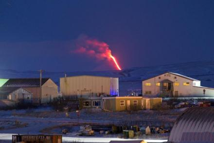 Shishaldin volcano erupts, as seen from Cold Bay, Alaska, U.S, January 6, 2020. Photo by Aaron Merculief.