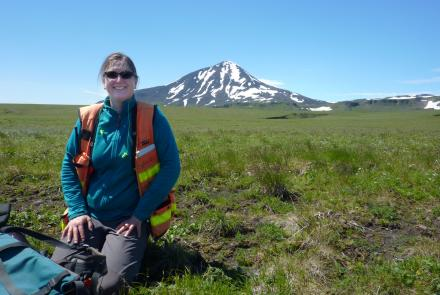 Jessica Larsen, UAF professor of volcanology, was appointed as the associate director of the GI in July.