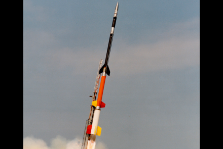 "Rocket photo: The Black Brant XII is the largest of NASA's sounding rockets. Sounding rockets take their name from the nautical term ""to sound,"" which means to take measurements. NASA has used sounding rockets since 1959. Photo credit: NASA"