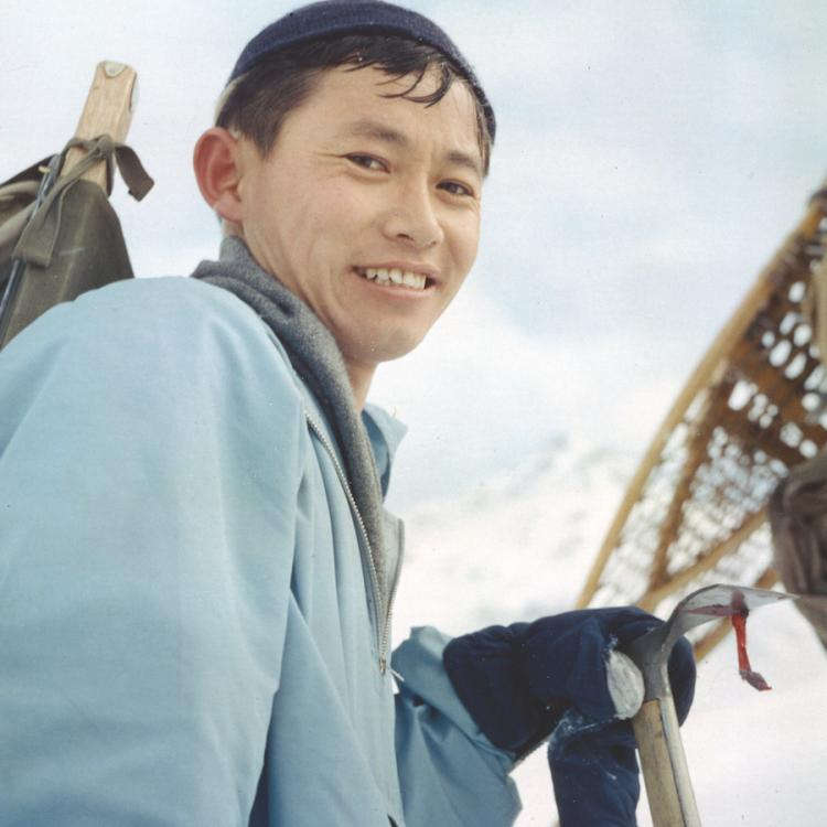 Syun-Ichi Akasofu on a mountaineering trip shortly after his arrival in Alaska in 1958. Photo courtesy Syun-Ichi Akasofu.